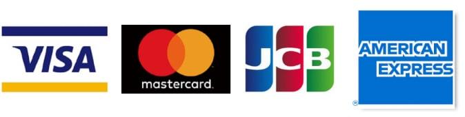 お支払いは右記のカードが使用可能です。